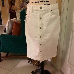 White Ralph Lauren Jean Skirt